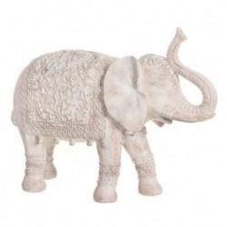 Figura Decorativa Elefante India Resina Blanco 40 cm
