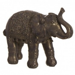 Figura Decorativa Elefante India Resina Dorado 30 cm