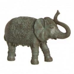 Figura Decorativa Elefante India Resina Marron 20 cm