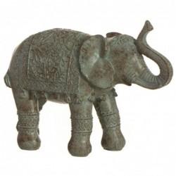 Figura Decorativa Elefante India Resina Marron 30 cm