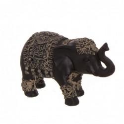 Figura Decorativa Elefante India Terra cota Negro 15 cm