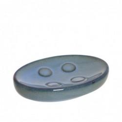 Jabonera Ceramica Baño Azul 13 cm