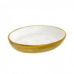 Jabonera Ceramica Baño Bicolor 13 cm