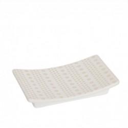 Jabonera Ceramica Baño Spot Blanco 13 cm