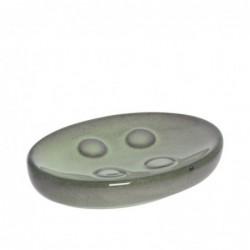 Jabonera Ceramica Baño Verde 13 cm