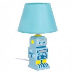 Lampara de Mesa Infantil Robot Azul 17 cm