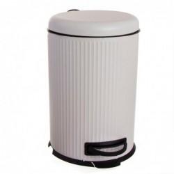 Papelera Cubo de Basura con Pedal 20 Litros Cierre Lento Blanca 43 cm