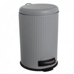 Papelera Cubo de Basura con Pedal 20 Litros Cierre Lento Gris 43 cm