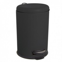 Papelera Cubo de Basura con Pedal 20 Litros Cierre Lento Negra 43 cm