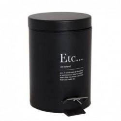 Papelera Cubo de Basura con Pedal 3 Litros Etc Blanca 24 cm