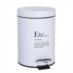 Papelera de Baño Cubo de Basura Blanco ETC 3 Litros 24 cm