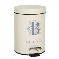 Papelera de Baño Cubo de Basura Crema Rituals 3 Litros 24 cm