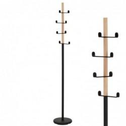 Perchero Metal y Madera Negro 174 cm