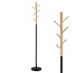 Perchero Metal y Madera Negro 177 cm