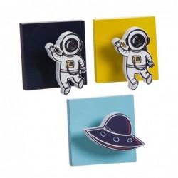 Perchero para Habitacion Infantil x3 Astronauta 8 cm