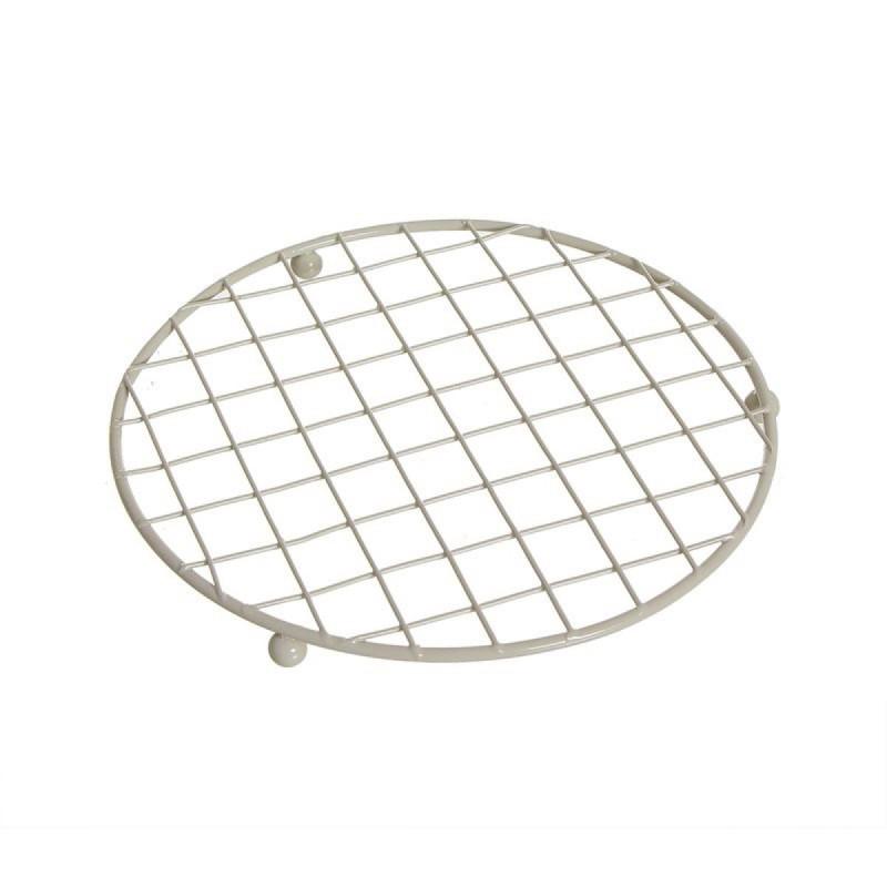 Salvamantel de Cocina Metalico Crema 18 cm
