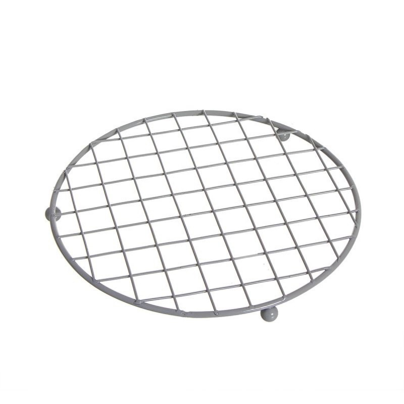 Salvamantel de Cocina Metalico Gris 18 cm
