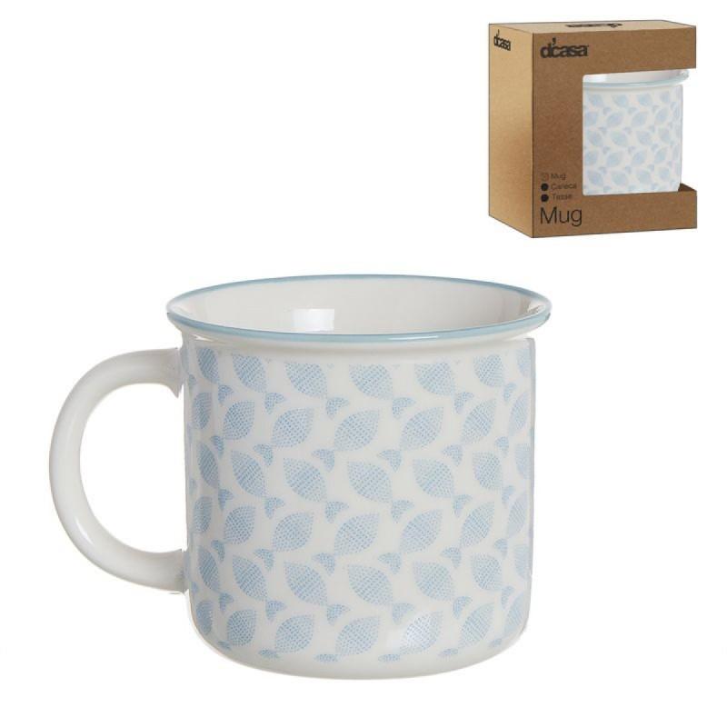 Taza Mug Vintage Mediterraneo 375 ml Ceramica 9 cm