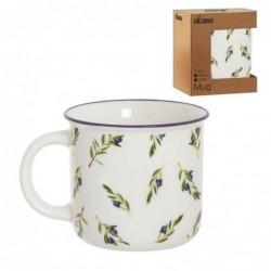 Taza Mug Vintage Olivo Ceramica 9 cm
