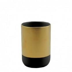 Vaso Porta Utensilios de Baño Bicolor Ceramica 9 cm