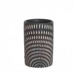Vaso Porta Utensilios de Baño Etnic Ceramica 9 cm