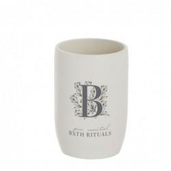 Vaso Porta Utensilios de Baño Rituals blanco 10 cm