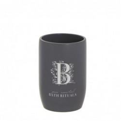 Vaso Porta Utensilios de Baño Rituals Negro 10 cm
