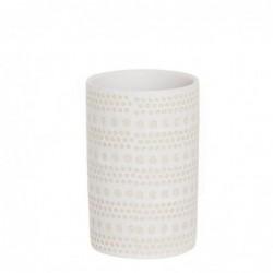 Vaso Porta Utensilios de Baño Spot Blanco Ceramica 9 cm