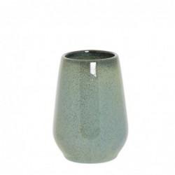 Vaso Porta Utensilios de Baño Verde Ceramica 9 cm