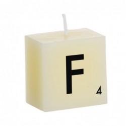 Vela Decorativa Letras F 5 cm