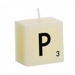 Vela Decorativa Letras P 5 cm