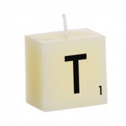 Vela Decorativa Letras T 5 cm