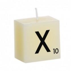 Vela Decorativa Letras X 5 cm