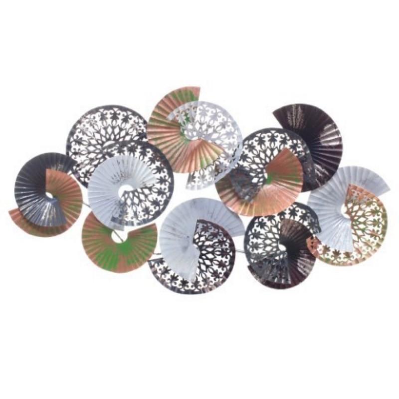 Adorno de Pared Decorativo Metalico Circulos 53x90 cm