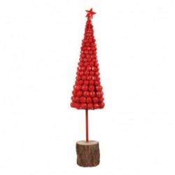 Figura Decorativa Arbol Campanas Metal Rojo 73 cm