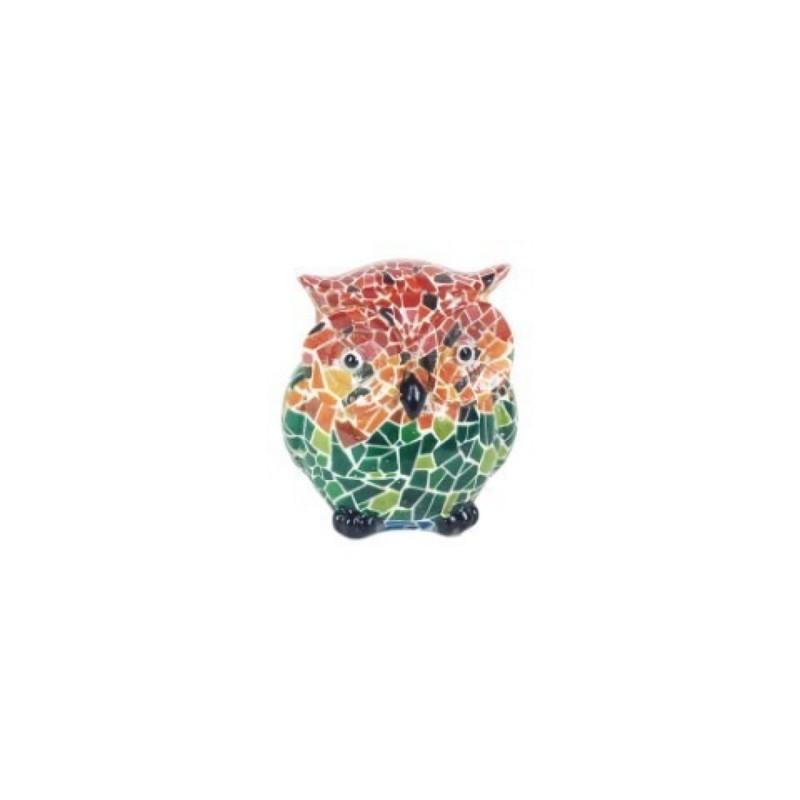 Figura Decorativa Buho Ceramica Multicolor 6 cm