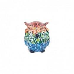 Figura Decorativa Buho Ceramica Multicolor 7 cm
