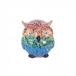 Figura Decorativa Buho Ceramica Multicolor 8 cm