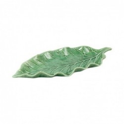 Figura Decorativa Hoja Verde Ceramica 31 cm