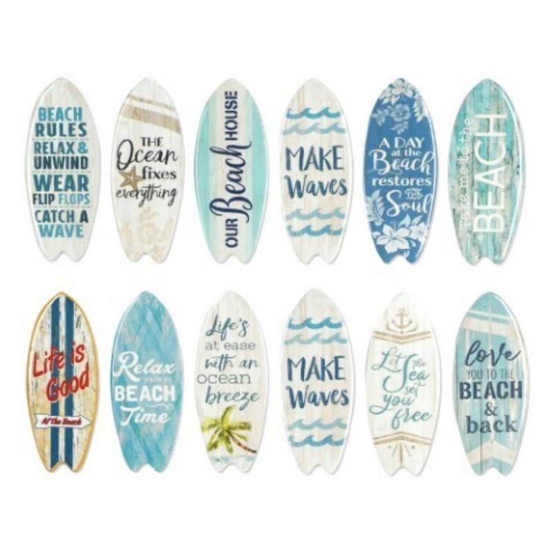 Iman de Nevera x12 Tablas Surf Ceramica 10 cm