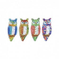 Iman de Nevera x4 Buhos Ceramica 8 cm