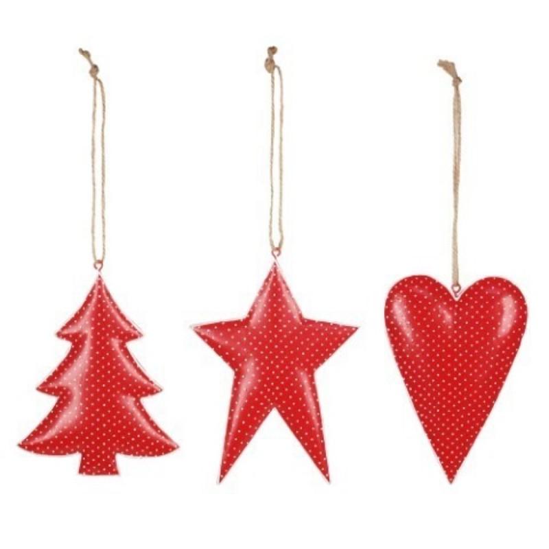 Movil colgante Decorativo x3 Navidad 14 cm