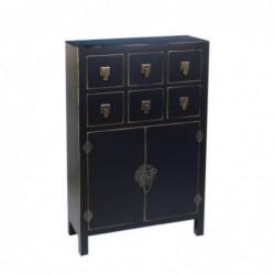 Mueble Comoda Con Cajones Madera Retro Negra 107 cm