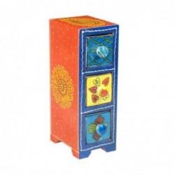 Mueble Especiero 3 Cajones Madera y Ceramica Colores 22 cm