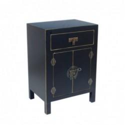 Mueble Mesita Retro Negra 65 cm