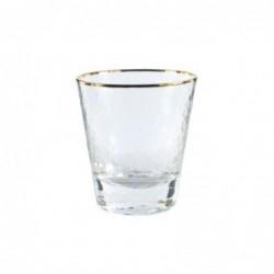 Vaso Cristal con Borde Dorado 10 cm