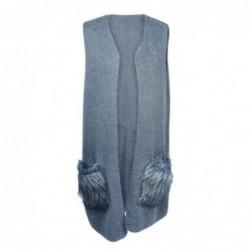 Vestido Poncho talla Unica Gris 90x45 cm
