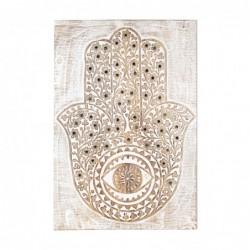 Adorno de Pared Madera Mano de Fatima 61 cm