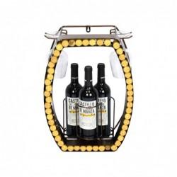 Botellero Metalico Copa de Vino 44 cm