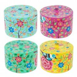 Caja Esmalte x4 Flores 12 cm